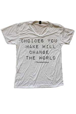 changing the world turns me on tee